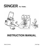 Singer TS380-TS380A Sewing Machine/Embroidery/Serger Owners Manual