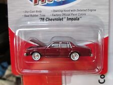 1978 CHEVROLET 4 DOOR IMPALA CMW DARK METALLIC RED OPENING HOOD MINI METALS