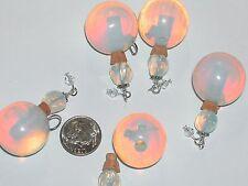 1 Real Stone oil perfume Crystal Ball Bottle crystal Moon Opal bead cork pendant