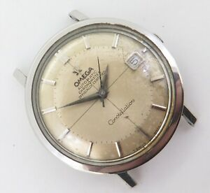 Vintage '66 Omega Constellation Steel 24J Auto 561 Two Tone Watch 168 004 NO RES