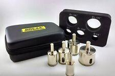 DRILAX Diamond Drill Bit Holesaw Set of 5 CASE 3/4, 1, 1-3/16, 1-3/8, 1-5/8 inch