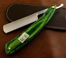 Handmade Shave Ready Straight Razor-Cut Throat Razor- Leather Sheath-RC8