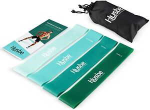 New HUSBE Stretch Loop RESISTANCE BANDS Set Of 4 Workout Fitness Exercise NIB !