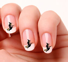 20 Nail Art Decals Transfers Stickers #389 - Witch & broomstick Halloween