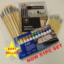 Artists Oils Painting And Brush Tubes Set Hobbies Crafts Model Making Fine Large