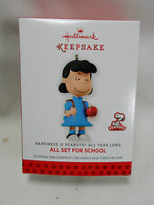 2013 Hallmark All Set For School Lucy Peanuts All Year Long