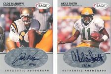 Akili Smith 1999 Sage Rookie Silver Signature Auto graph #/180 RC