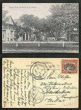 Jesselton Market Street Malaysia North Borneo stamp 1919