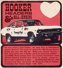 """1969 CHEVROLET NOVA PRO STOCK - BILL """"GRUMPY"""" JENKINS ~ SMALLER HOOKER HEADER AD"""