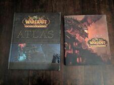 World of Warcraft book LOT 2 CATACLYSM ATLAS Art game dragon war craft