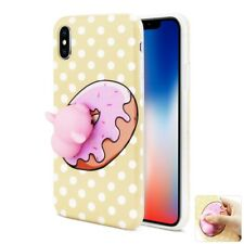 For iPhone X 3D Case TPU Protective Cover Cute Squishy Soft Silicone Piggy