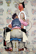 Norman rockwell Tattoo Ink Dollar Roses heart classic Canvas Fine Art 20x30 A1