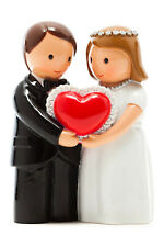 "Wedding Annivsary Couple with Heart ""Little Drops Of Water"" Statue Figure"