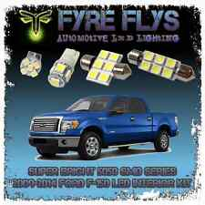 White LED interior lights package kit for 2009-2014 F-150 7 pcs 5050 series SMD