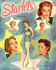 VINTGE 1951 MGM STARLETS PAPER DOLL ~LASER REPRODUCTIN ORG SZ UNCUT NO1 FREE SH