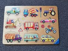 Holzpuzzle Steckpuzzel Fahrzeuge von Ravensburger