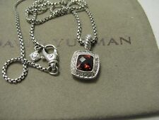 "Garnet Pave Diamond Pendant17""Logoboxcha in Authentic David Yurman Albion 7Mm"