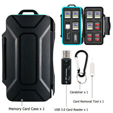 Memory Card Case w/USB Card Reader for 10 SD SDHC + 16 Micro SD TF + 4 SIM Cards