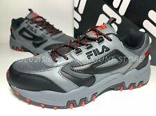 FILA Men's Reminder Athletic Running Hiking Shoes ~ Gray/Black ~ Various Sizes