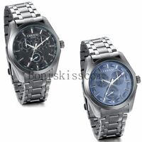 Business Casual Luxury Dial Men's Stainless Steel Analog Quartz Wrist Watch New