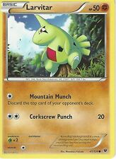 POKEMON XY FATES COLLIDE CARD - LARVITAR 41/124