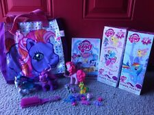 My Little Pony Lot Mini Rarity Twilight Pinkie Bag DVD Puzzles Accessories Brush