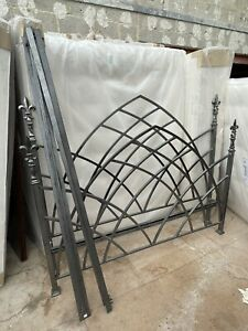 Gunmetal Grey SuperKing Gothic Bed Frame & And So To Bed Slats £3k New Quality