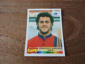Kiko - Panini France 98 Football Sticker - Rare Spain - Near Mint!