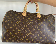 Louis Vuitton Speedy 40 Monogram Handbag Mint Condition With Original Receipt