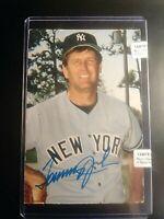 TOMMY JOHN New York Yankees Signed Autographed Vintage Postcard