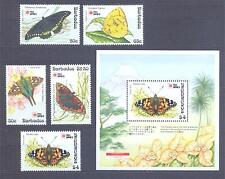 BARBADOS 1983, Butterflies, set of 4+1 + SS, MNH** (94)