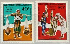 NIGER 1977 600-01 419-20 Women´s Association Frauenarbeiten Jobs Frauen MNH