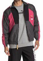 Puma Helly Hansen Colorblock Mens Track Jacket Full Zip Pink Size XS NWT