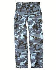 Us Ranger Pantaloni Tipo Bdu Skyblue,Campeggio,Esterno,Militare -nuovo