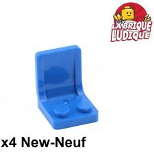 Lego - 4x Minifig utensil siège chaise seat 2x2 bleu/blue 4079b NEUF