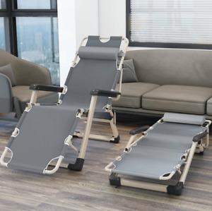 Folding Reclining Sun Lounger Chair Portable Outdoor Beach Garden Patio Recliner