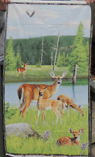Oh Deer!  Quilt Panel by Willmington  Kevin Daniel   23x44