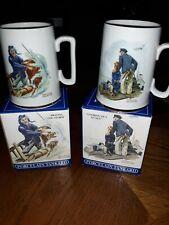 Lot Of 2 Nib Vintage 1985 Norman Rockwell Mug Tankard Long John Silver'S