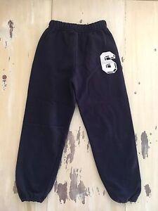 JERZEES - Vtg NuBlend Kids Navy Blue Soccer Sweatpants Joggers, #6, Medium 10/12