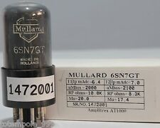 6Sn7Gt Philips Miniwatt made in Holland Tested Amplitrex At1000#1472001