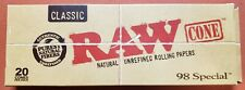 Raw Classic Natural Pre-Rolled cones 98 Special - 20 cones per pack