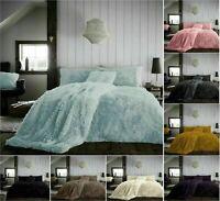 Hug Snug Fluffy Fur Fleece Duvet Cover Set Super Soft Cozy Bedding Sets / Throws