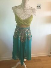 Karen Millen Green Beaded Strappy Dress - Size 8