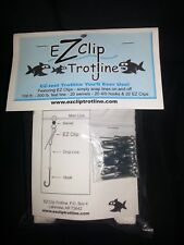 EZ Clip Trotline with Clips/Catfish Fishing Trot Line/Setline/Hooks/Line/Swivels