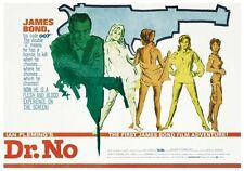 JAMES BOND ~ DR NO BRITISH QUAD 24x36 MOVIE POSTER Sean Connery 007 NEW/ROLLED!
