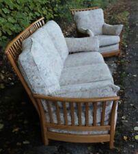 Vintage Ercol Renaissance Suite 3 Seat Sofa & Armchair 1068, Blonde V.Clean VGC
