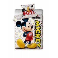 Parure de lit Mickey, 140x200, housse de couette Mickey, parure de lit enfant