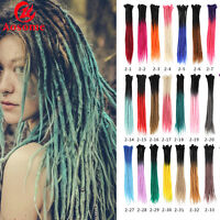 5PCS 24INCH Synthetic Twist Dreadlocks Crochet Braid Afro Dreads Hair Extensions