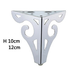 "4pcs Modern Chorme,Black Furniture Legs Cabinet Bed Sofa Replacement Legs 4""~5""H"