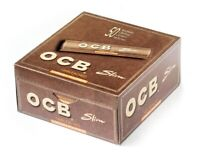 OCB UNBLEACHED VIRGIN BROWN Slim King Size Rolling Papers Booklets